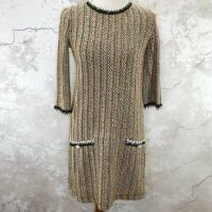 Zara Trafaluc Boucle Soft Sweater Shift Dress.